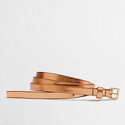 Factory skinny leather belt