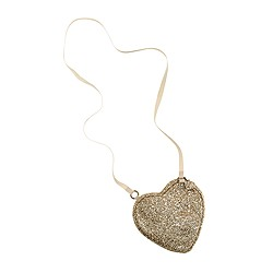 Girls' glitter heart purse