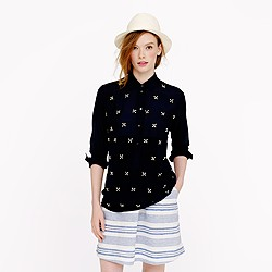 Collection jeweled boyfriend popover