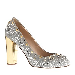 Collection Etta crystal and stud pumps