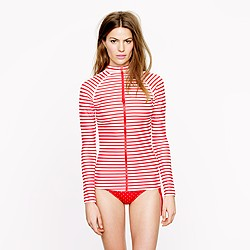 Pret-à-Surf® for J.Crew striped front-zip rash guard