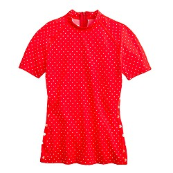 Pret-à-Surf® for J.Crew polka-dot short-sleeve rash guard