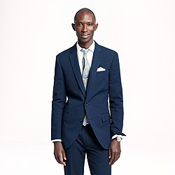 Ludlow suit jacket with double vent in Japanese seersucker