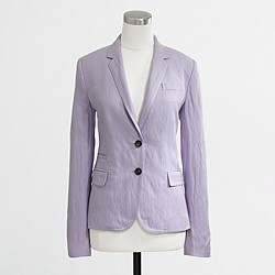 Factory tailored boy blazer in purple linen
