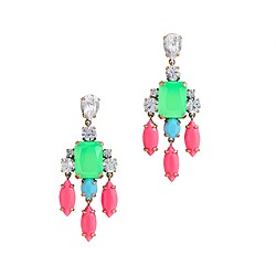 Color collage earrings