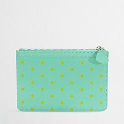 Factory dotted leather clutch