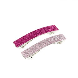 Girls' glitter barrette two-pack