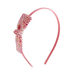 Girls' glitter bow headband