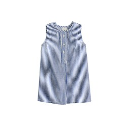 Baby tunic in blue stripe