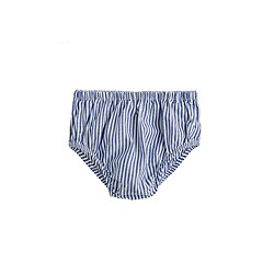 Baby bloomers in blue stripe