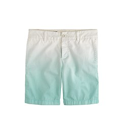 Broken-in boyfriend chino short in dip-dye