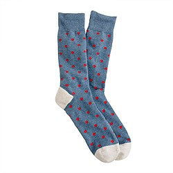 Medium-dot cotton socks