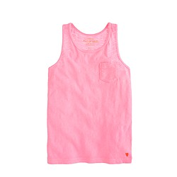 Girls' racerback tank in neon