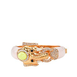 Enamel and pavé elephant bracelet