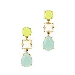 Neon drop earrings