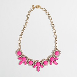Factory crystal petal necklace