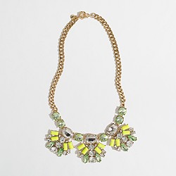 Factory neon crystal fan necklace