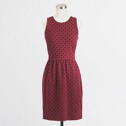 Factory ponte dress in velvet dot