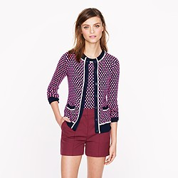 Collection featherweight cashmere cardigan in diamond dot