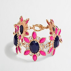 Factory crystal flower bracelet