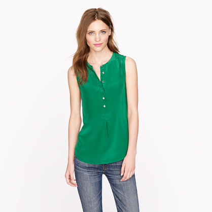 Silk henley top