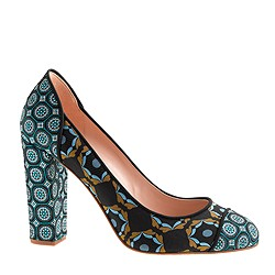 Pre-Order Collection Etta printed cap toe pumps