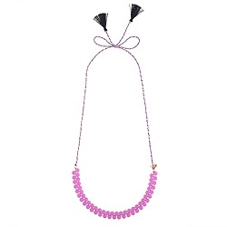 Girls' tassel-tie beaded necklace