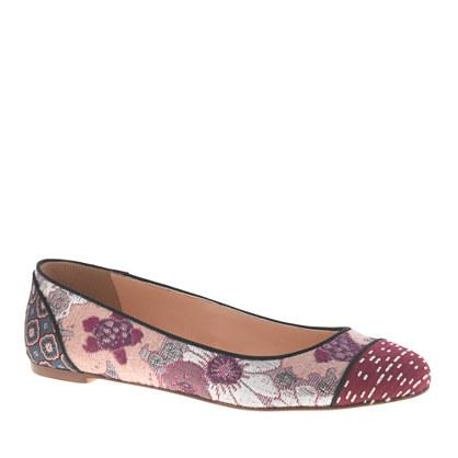 Nora printed cap toe ballet flats