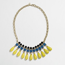 Factory multicolor teardrop necklace
