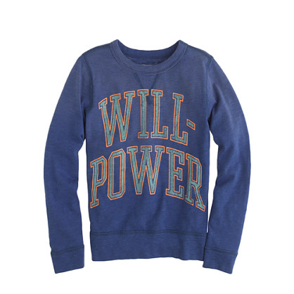 Boys' long-sleeve willpower tee