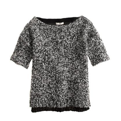 Girls' marled pocket chunky sweater