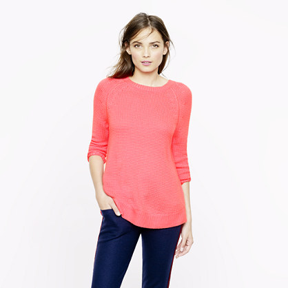 Collection cashmere textured-stitch sweater