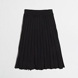Factory merino pleated skirt