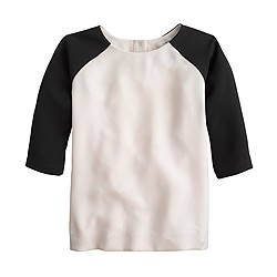 Crepe baseball top