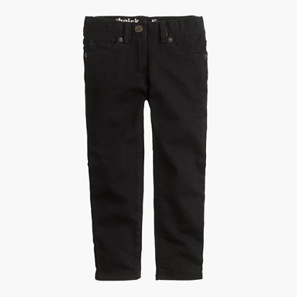 Girl's Toothpick Jean in Black