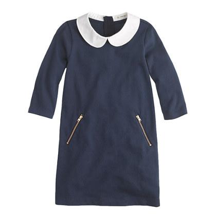 Girls' peter pan collar dress