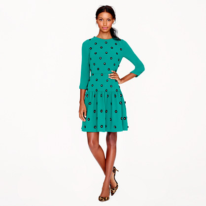 J.Crew Collection Leather-floret Dress | Day to Night Dresses for Fall