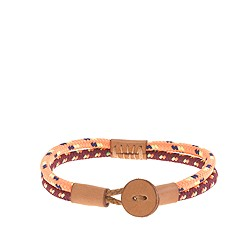 Kids' neon cord and leather bracelet
