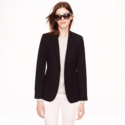 Women's Ludlow blazer in wool gabardine