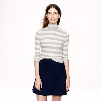 Tissue turtleneck tee in heather stripe