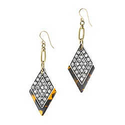 Lulu Frost for J.Crew crystal kite earrings