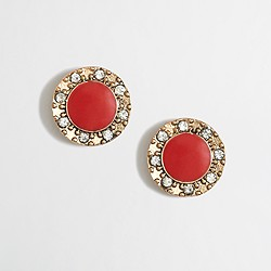 Factory crystal circle studs