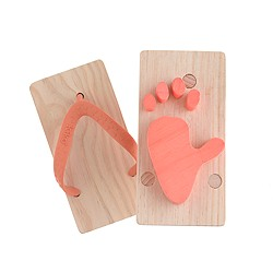 Kids' Kiko+™ ashiato animal footprint toy sandals