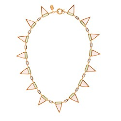 Jennifer Meyer for J.Crew Sarah tricolor triangle necklace