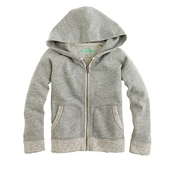 Boys' heathered french terry zip hoodie
