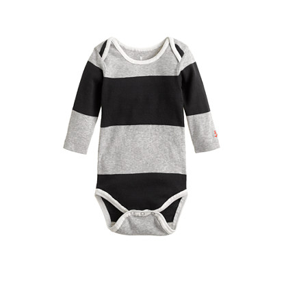 Baby one-piece in bar stripe