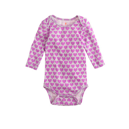 Baby one-piece in heart print