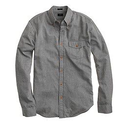 Brushed twill shirt in heather grey