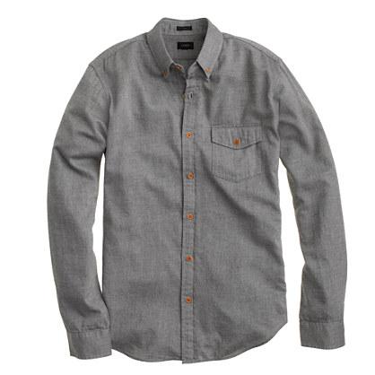 Brushed twill shirt brushed twill shirts j crew for Brushed cotton twill shirt