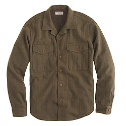 Wallace & Barnes overshirt in herringbone wool